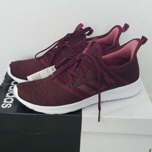 Adidas Burgundy Cloudfoam Pure Running Shoes